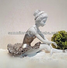 custom polyresin dancing girl art and craft for home decor