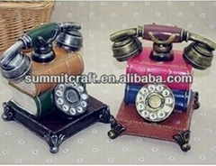 European Retro fashion polyresin painting telephone money box wedding souvenirs