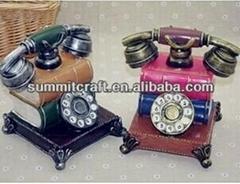 European Retro fashion polyresin painting telephone money box wedding souvenirs