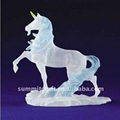 resin frosted horse figurine