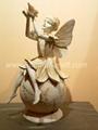 Resin fairy garden sculpture
