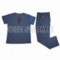 China medical scrubs uniform