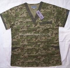 China print scrubs