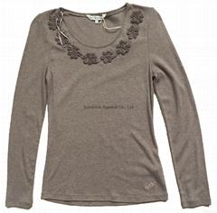 China knot button sweater
