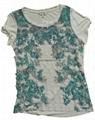 China transfer printing blouse