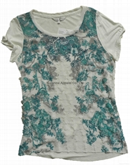 China transfer printing blouse