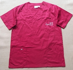 Embroidery nursing scrubs