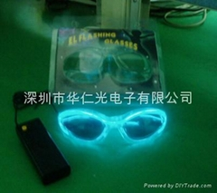 flashing EL glasses- Transparent