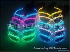EL glasses,flashing 10 colors