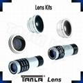 mobile phone lens kit 5 in 1 fisheye ,