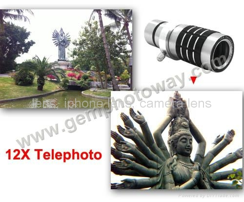 12X telephoto lens for smartphone IP900 lens for iphone 4