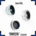 3 in 1 Lens Kits fisheye+wide angle+2X