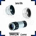 3 in 1 Lens Kits fisheye wide angle 9X