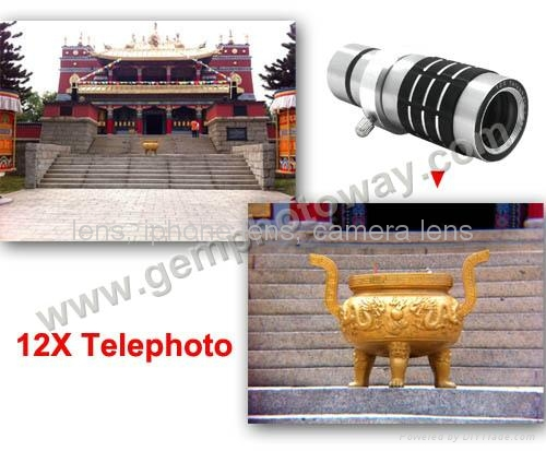 12X telephoto lens for smartphone IP900 lens for iphone 5