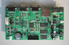 PCB and Assembly with Components
