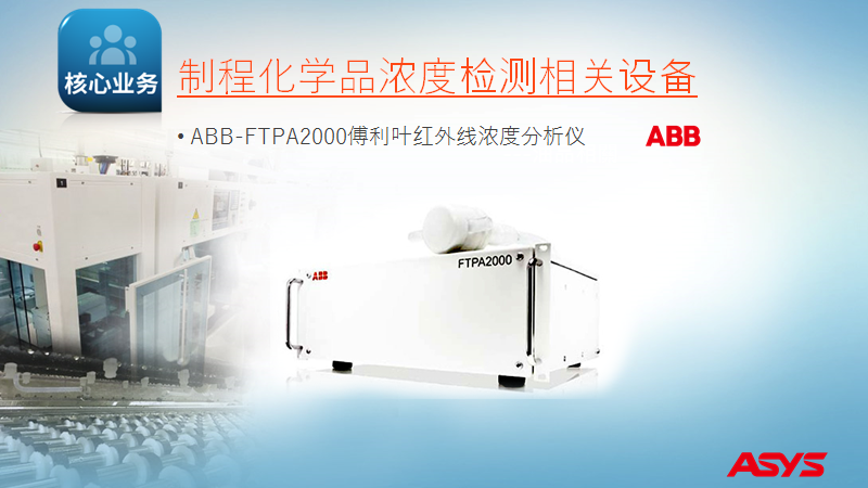 ASYS 脫膜液濃度管理裝置(ABB RMS在線濃度計)針對 光電廠