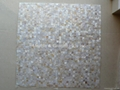 Mesh 15x15mm/300x300mm White MOP Mosaic Tile, Butt-joint gap format
