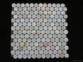 Dia. 25mm White MOP mosaic tile