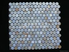 Dia. 20mm White MOP Mosaic Tile