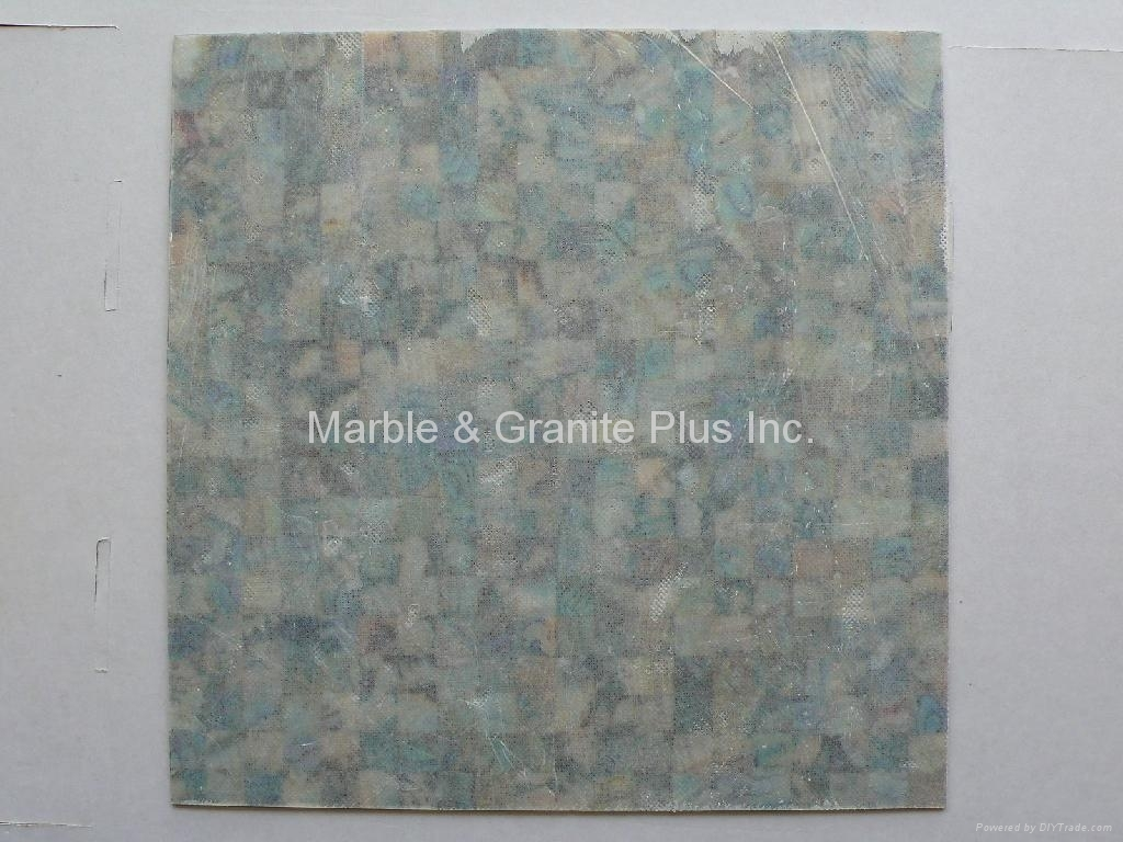 Abalone Paua tile with Nonwoven backing