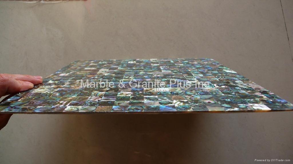 300x300x3mm New Zealand Abalone Paua MOP tile