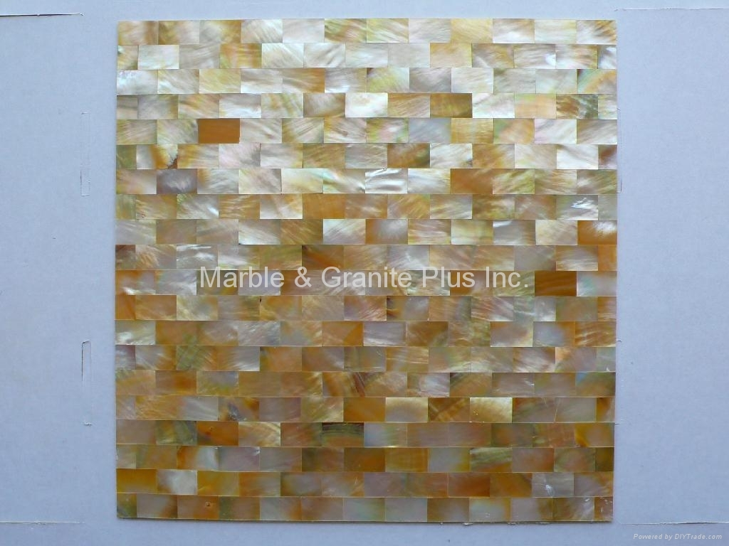300x300x3mm solid Yellowlip Seashell MOP tile