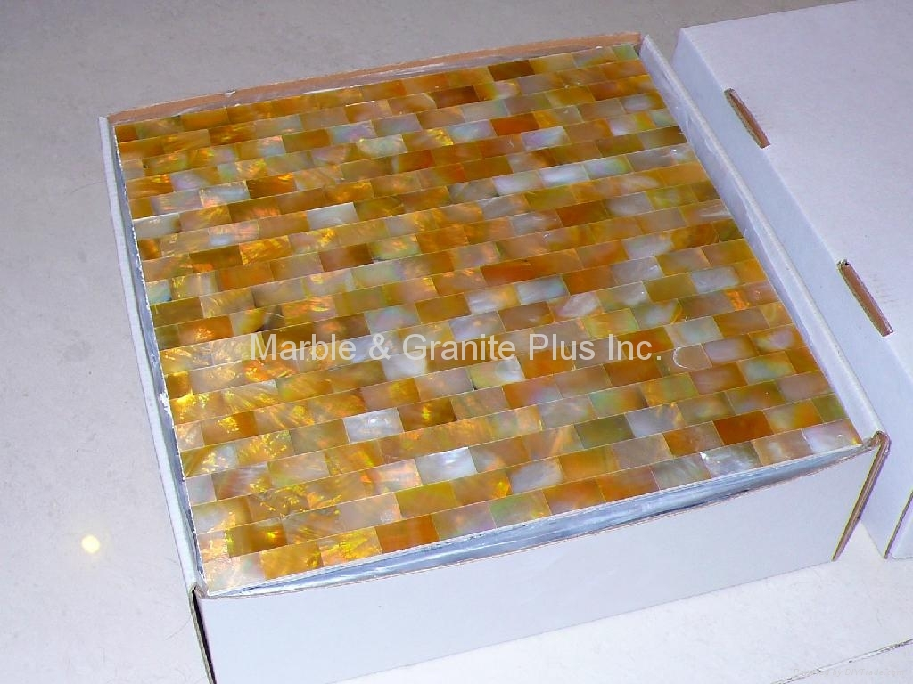 Packing of solid Yellowlip Seashell MOP tiles