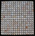 Mesh Peacock White MOP mosaic tiles