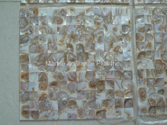 Mesh Mirage Brown Mother of Pearl (MOP) Mosaic Tile (Butt-joint gap)