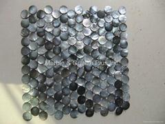 Dia. 25mm Blacklip Seashell MOP mosaic tile