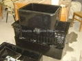 Elite Black marble farmhouse sink