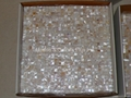 mesh 10x10mm/300x300mm white Mother of Pearl Mosaic tile, with open grout gap