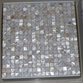mesh 15x15mm/305x305x2mm white Mother of Pearl mosaic tile, with open grout gap