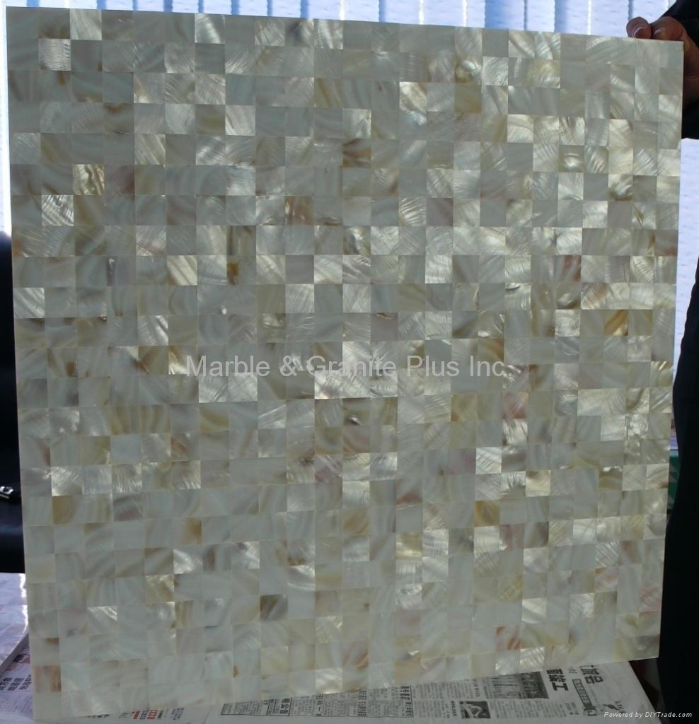 MOP tile, solid 2mm shell plus 9mm thick PORCELAIN tile base