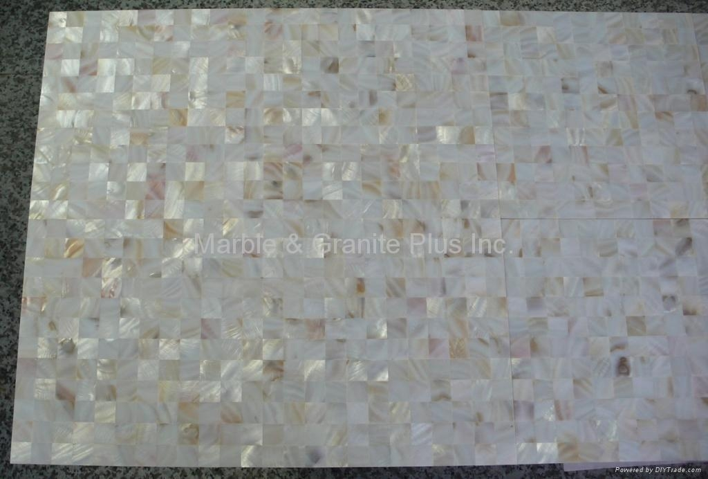 MOP tile, solid 2mm shell plus 9mm thick PORCELAIN tile base
