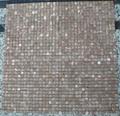 Agate Red / Strata Tan marble mosaic tile