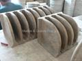 Carved Travertine Corner Shelves