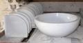 White marble corner & sink