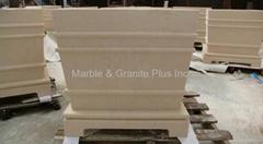 Turkish Beige limestone planter