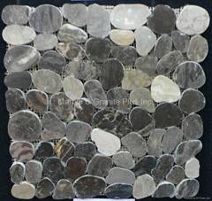 Sliced Pebble mosaic tile