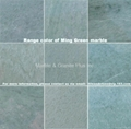 Range color of Ming Green marble