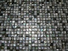 Black Tahiti MOP Mosaic Tile