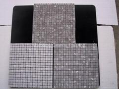 Mystic Grey (Mucy Grey, Gris Jaspe) marble mosaic tiles