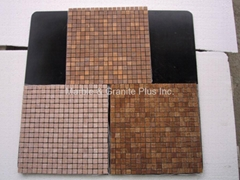 Timber Brown marble mosaic tiles