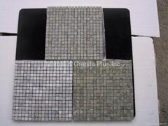 Lotus Leaf Green marble mosaic tiles