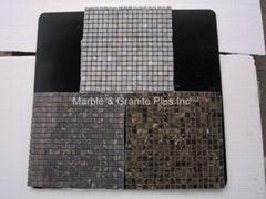 Chinese Portoro marble mosaic tiles