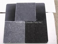Jet Black marble mosaic tiles