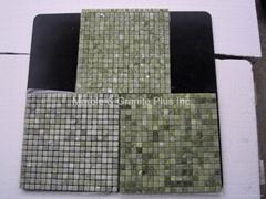 Veggie Green / Emerald Green marble mosaic tiles