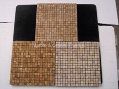 Giallo Tung marble mosaic tiles