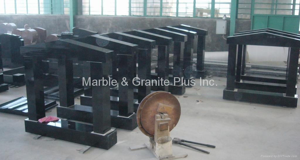 Shanxi Black/Imperial Black Granite Memorial 1